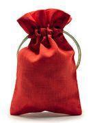 красный холщовый мешочек